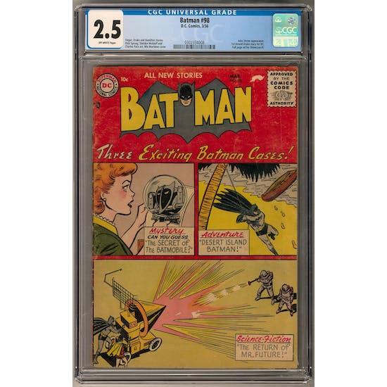 Batman #98 CGC 2.5 (OW) *0302334008*