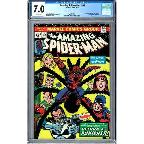 Amazing Spider-Man #135 CGC 7.0 (W) *0358577014*
