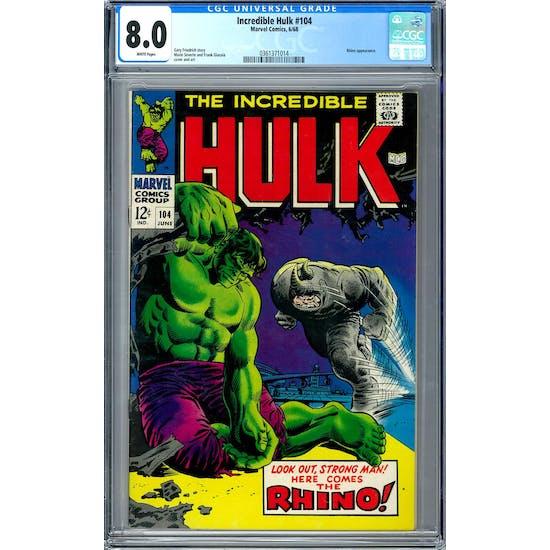 Incredible Hulk #104 CGC 8.0 (W) *0361371014*