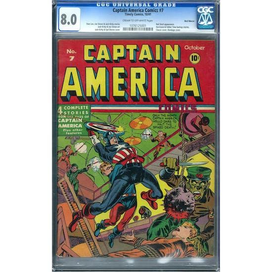 Captain America Comics #7 CGC 8.0 Recil Macon Pedigree (C-OW) *1076125001*