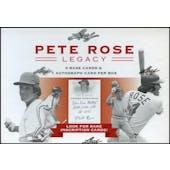 2011 Leaf Pete Rose Legacy Baseball Hobby Box