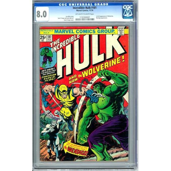 Incredible Hulk #181 CGC 8.0 (OW-W) *1132300001*