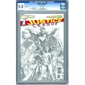 Justice League #1 Sketch Cover CGC 9.8 (W) *1159124002*