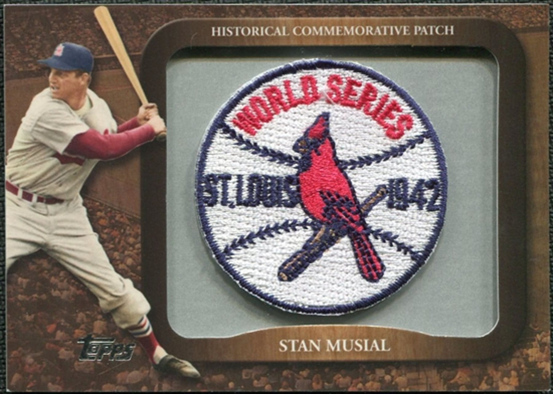 2009 topps legends commemorative patch #lpr107 stan musial.