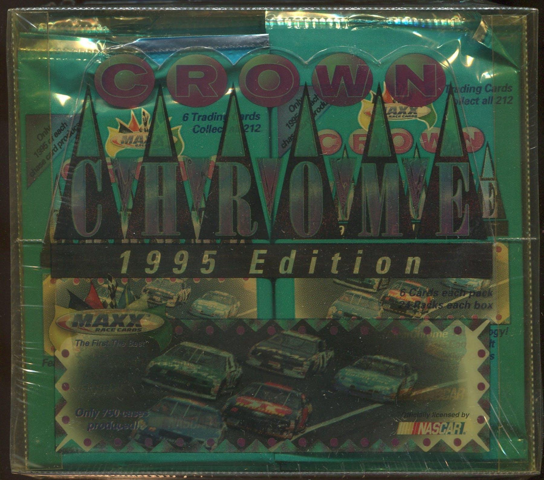 1995 J.R. Maxx Inc. Maxx Premier Plus Crown Chrome Racing Hobby Box ...