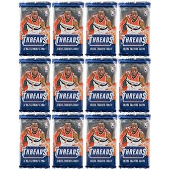2014/15 Panini Threads Premium Basketball Hobby Pack (Lot of 12)