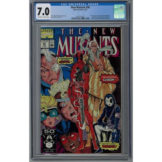 New Mutants #98 CGC 7.0 (OW-W) *1491214007*