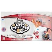 2014 Topps Pro Debut Baseball Hobby Box