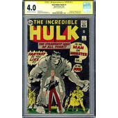 Incredible Hulk #1 CGC 4.0 Stan Lee Signature Series (OW-W) *1601291008*