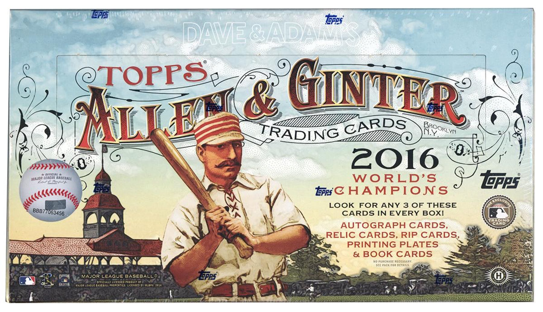 2016 Topps Allen Ginter Baseball Hobby Box