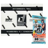 2017 Panini Donruss Football 12-Pack Jumbo Box