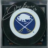 Danny Gare Autographed Buffalo Sabres Throwback Hockey Puck