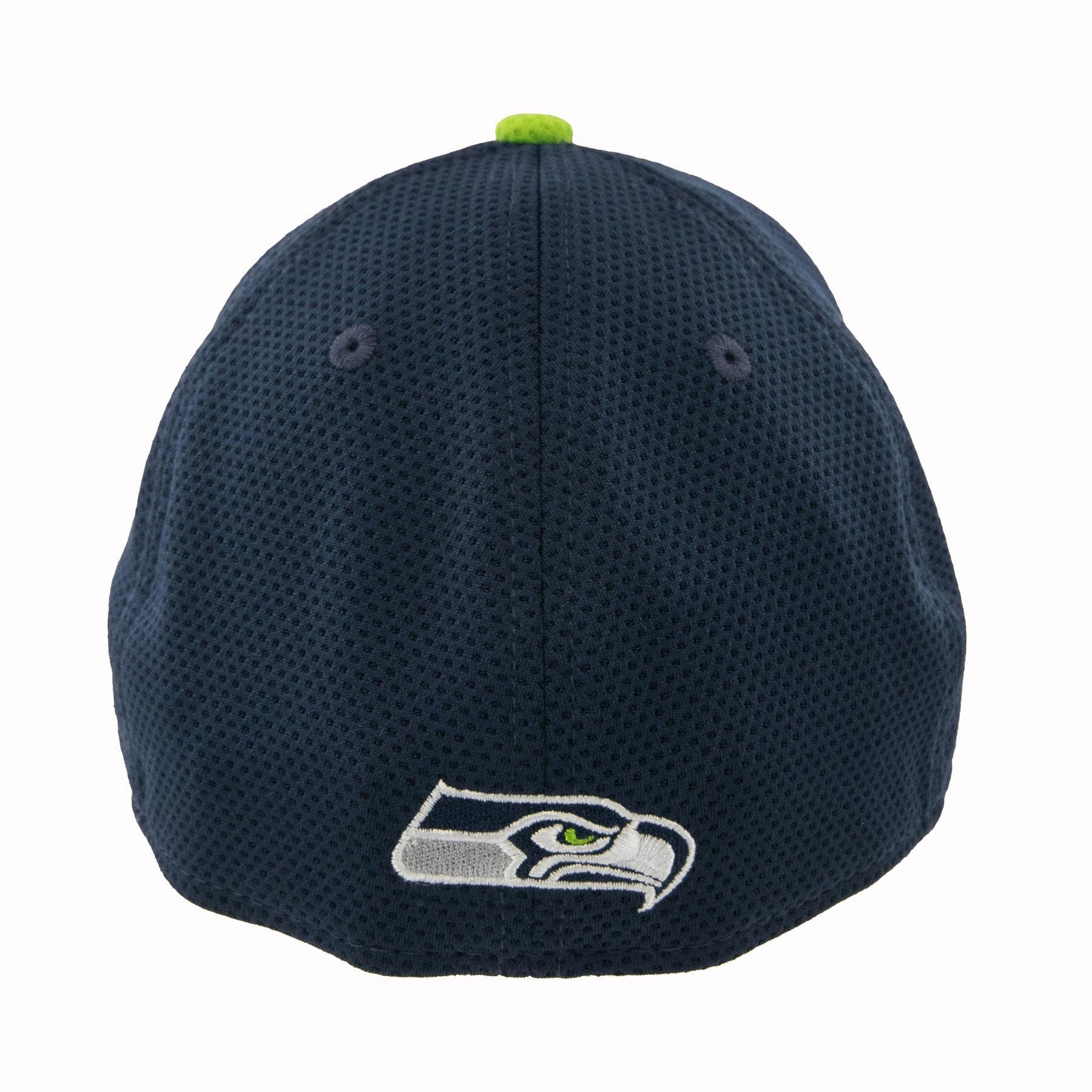 689c1b7fcd2f7 Seattle Seahawks New Era Navy Tech Grade Flex Fit Hat