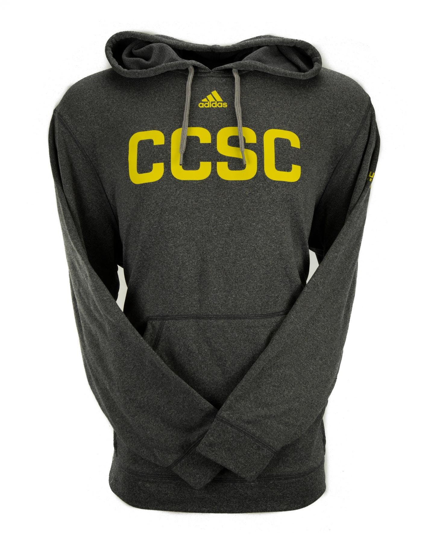 b724937d53e Columbus Crew Adidas Grey Climalite Performance Fleece Hoodie ...