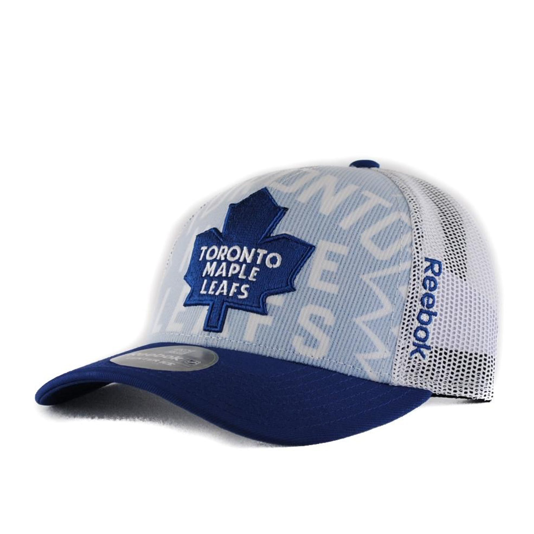 8bacb8c53d9 Toronto Maple Leafs Reebok White Draft Cap Structured Snapback Hat (Adult  One Size)
