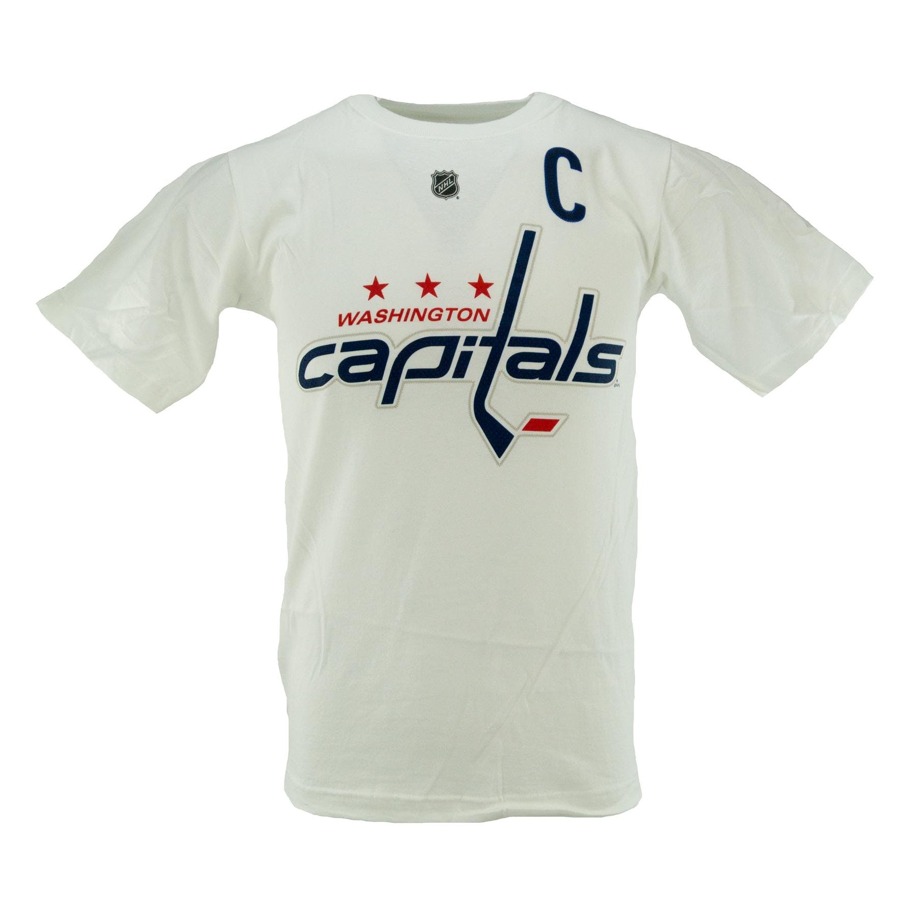 b2b54e641a8 Alexander Ovechkin Washington Capitals White Reebok T-Shirt (Adult XXL)