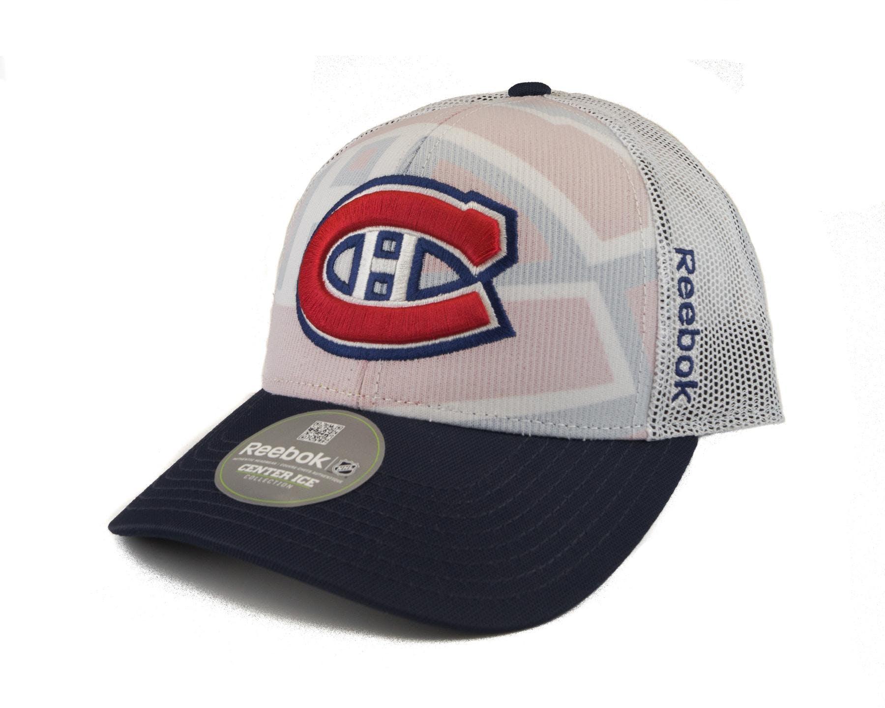 3812af909f8 Montreal Canadiens Reebok White Draft Cap Structured Adjustable Hat