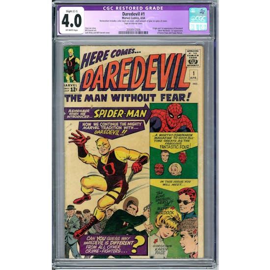 Daredevil #1 CGC 4.0 Slight (C-1) Restoration (OW) *2008912006*