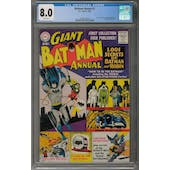 Batman Annual #1 CGC 8.0 (W) *2009118006*