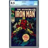 Iron Man #1 CGC 8.5 (W) *2010844004*