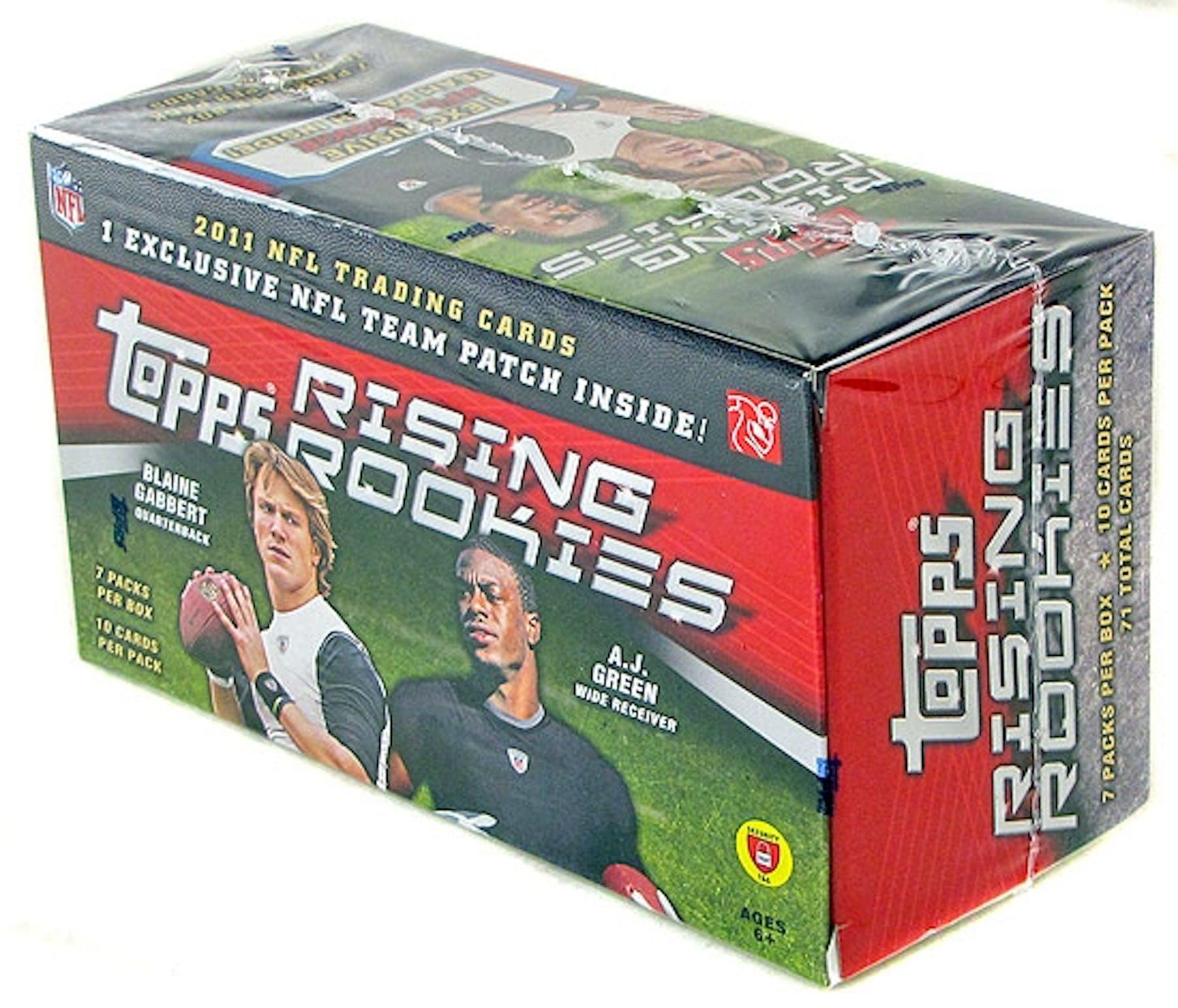 2011 Topps Rising Rookies Football 7-Pack Box