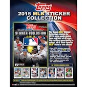 2015 Topps Baseball MLB Sticker Collection Pack