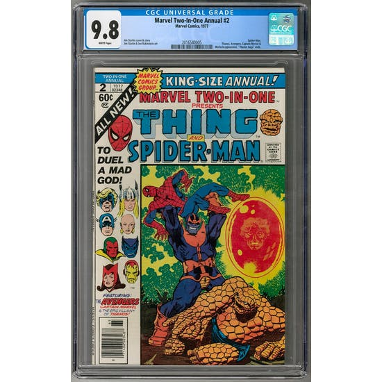 Marvel Two-In-One Annual #2 CGC 9.8 (W) *2016540005*