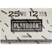 2018 Panini Playbook Football 12-Pack Jumbo Box