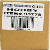 2018/19 Panini Noir Basketball Hobby 4-Box Case