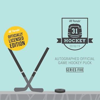 2018/19 Hit Parade Auto Hockey Official Game Puck Case Ser 5- DACW Live 10 Spot Random Hit Break #1