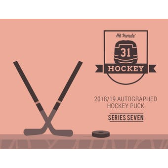 2018/19 Hit Parade Autographed Hockey Puck Hobby Box - Series 7 Matthews, Messier, Dahlin & Malkin!!!