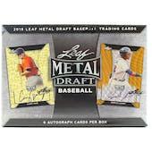 2018 Leaf Metal Draft Baseball Hobby Box