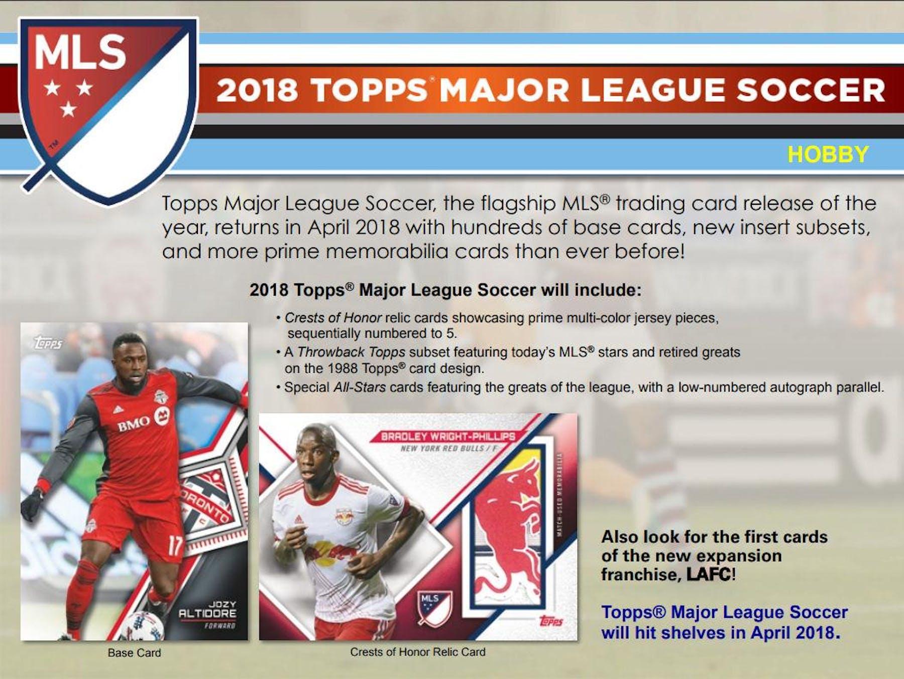 3f8f458c7 2018 Topps MLS Major League Soccer Hobby Pack