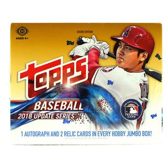 2018 Topps Update Series Baseball Hobby Jumbo Box