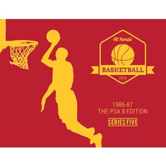 2018 Hit Parade Basketball 1986-87 The PSA 8 Edition - Series 5 - Hobby Box /143 - Jordan RC PSA 8