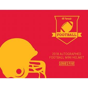 2018 Hit Parade Auto Football Mini Helmet 1-Box Series 5- New Year 8 Spot Random Division Break #3