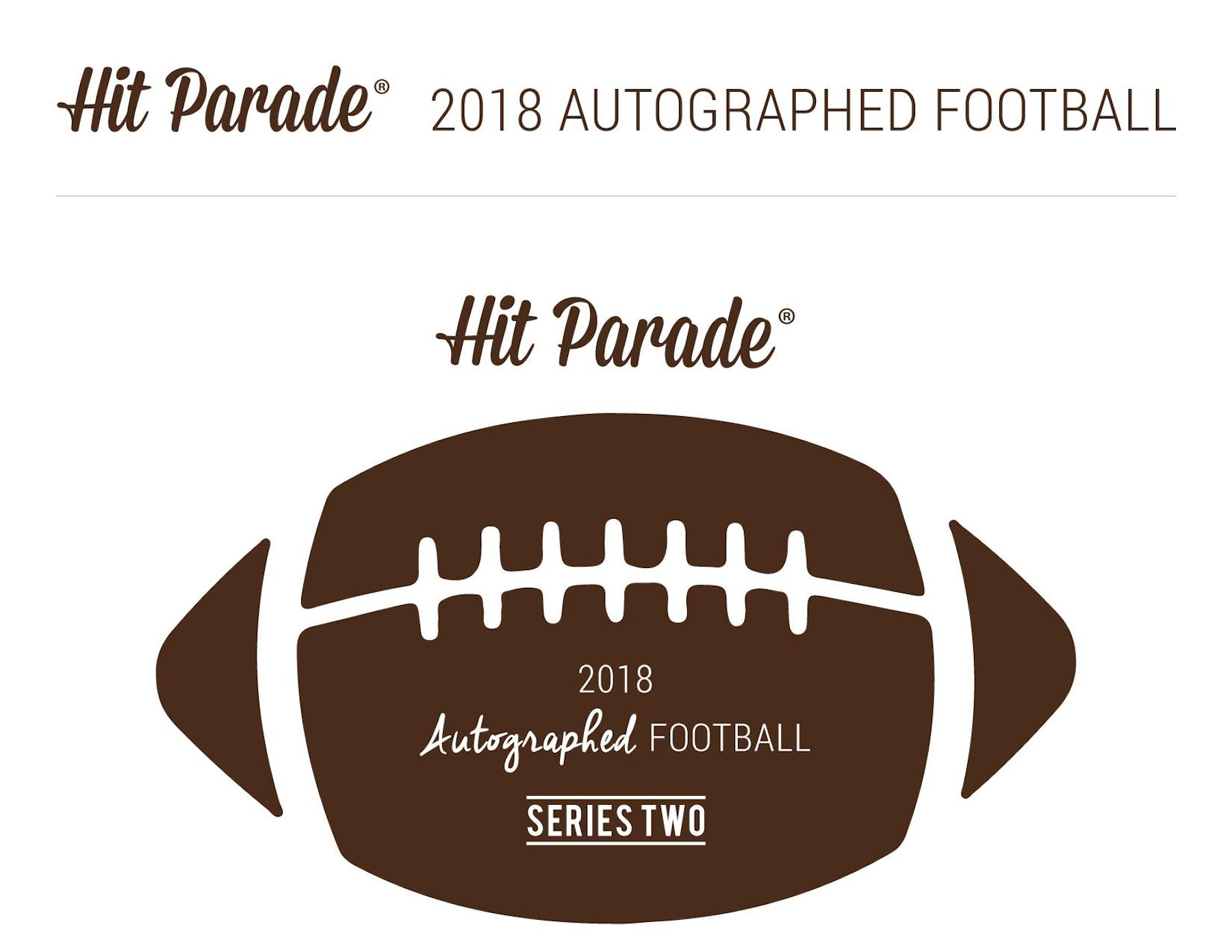 2bded57ed 2018 Hit Parade Autographed Football Hobby Box - Series 2 - Aaron ...
