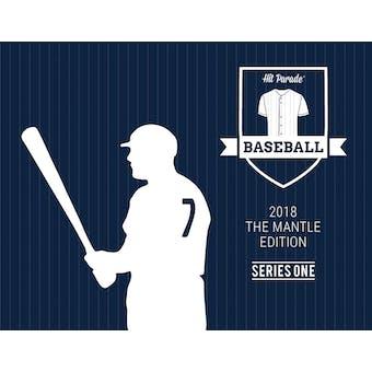 2018 Hit Parade Baseball The Mantle Edition Edition - Series 1 - Hobby Box /166 - Mantle - PSA