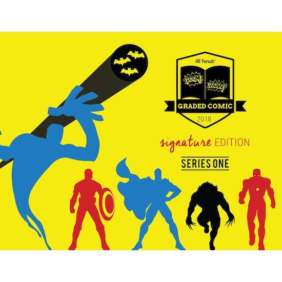 2018 Hit Parade Signature Series Graded Comic Edition Hobby Box - Series 1 - Saga #1 CGC 9.8 Sig Series!