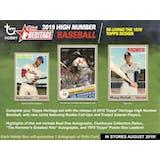 2019 Topps Heritage High Number Baseball Hobby 12-Box Case (Presell)