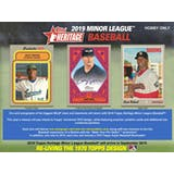 2019 Topps Heritage Minor League Baseball Hobby 12-Box Case (Presell)