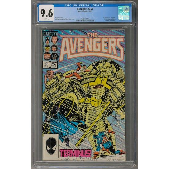 Avengers #257 CGC 9.6 (W) *2019712001*