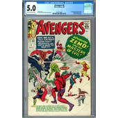 Avengers #6 CGC 5.0 (OW-W) *2019714001*