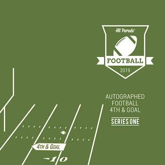 2019 Hit Parade Autographed Football 4th & GOAL Hobby Box - Series 1 - Patrick Mahomes & Ezekiel Elliott!!!