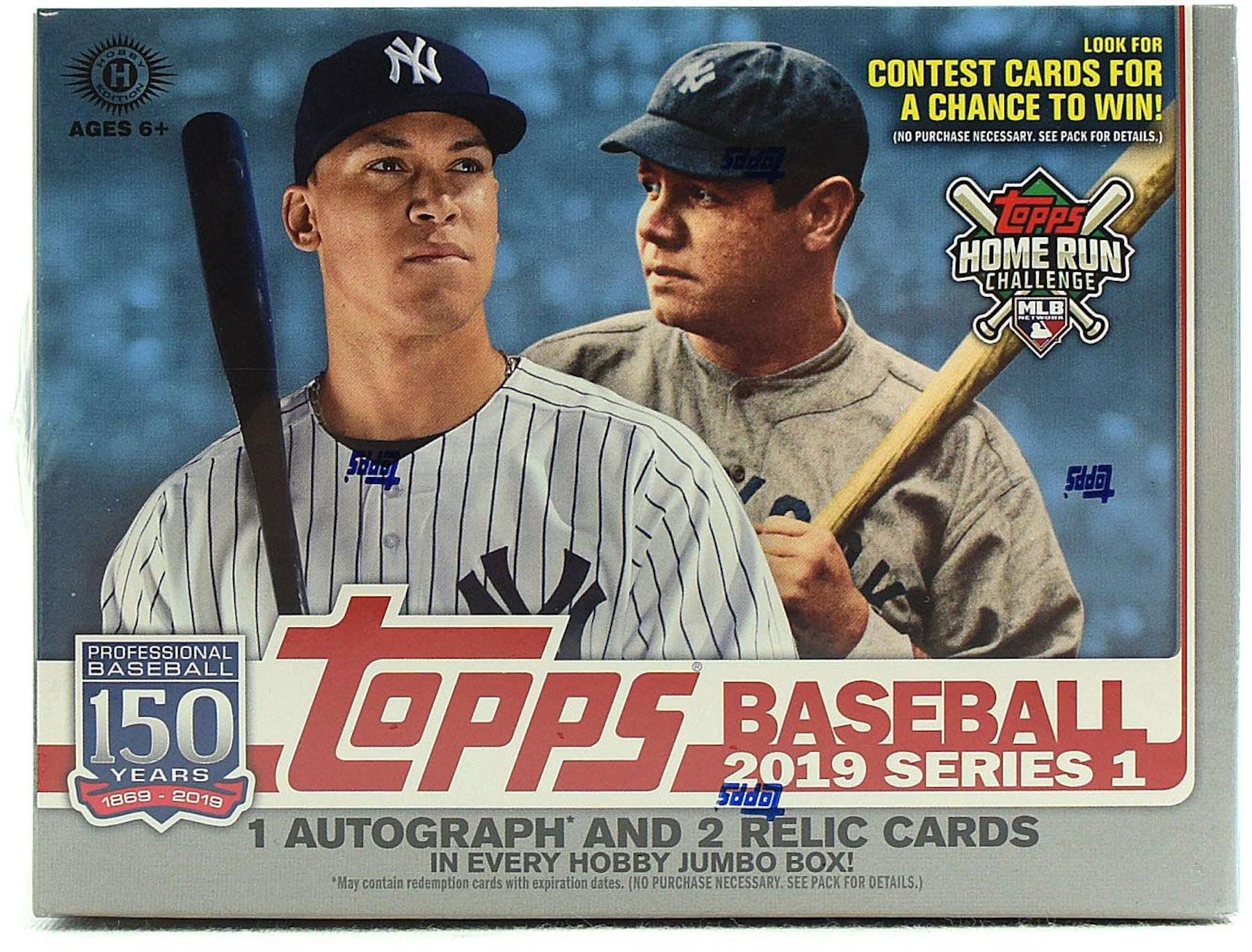 aa666bca0b3 2019 Topps Series 1 Baseball Hobby Jumbo Box (PLUS 2 Silver Packs!)