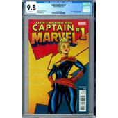 Captain Marvel #1 CGC 9.8 (W) *2027873020*