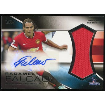 2014/15 Topps English Premier League Gold Jumbo Relic Autographs #PARRF Radamel Falcao Autograph /50
