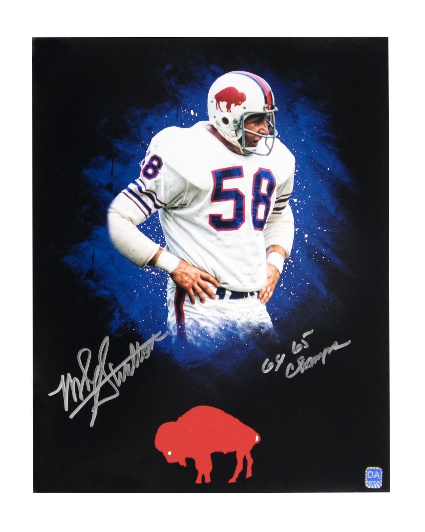 1dd25cb7e85 Mike Stratton Autographed Buffalo Bills 11x14 Photo | DA Card World