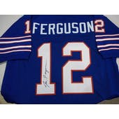 Joe Ferguson Autographed Buffalo Bills Blue Football Jersey