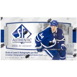 2016/17 Upper Deck SP Authentic Hockey Hobby Box